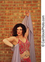 belly dancer with veil