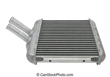 auto parts - new car radiator on a white background
