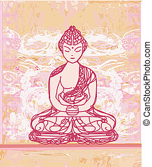 Artistic Buddhism Pattern - Chinese Traditional Artistic...