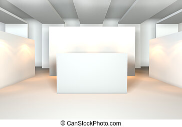 Empty room for gallery