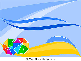 Abstract beach with umbrellas - Vector Image the beaches...