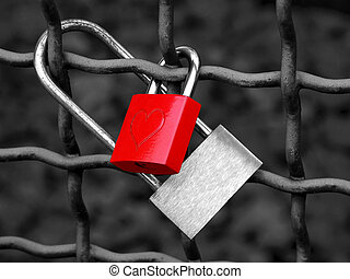 Love lock - Image of a love lock