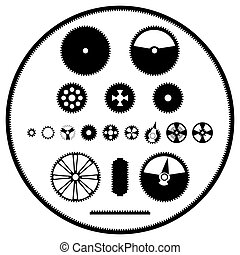 A set of gears - A vector image templates gears