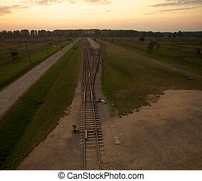 Auschwitz-Birkenau Concentration Camp - Train track arriving...