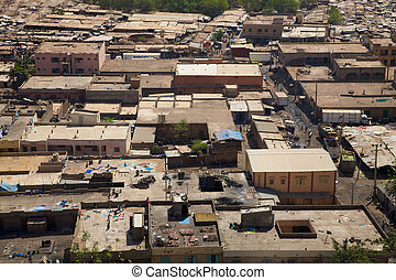 View of Bamako the city - Aerial view of the city of Bamako...