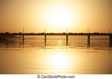 Pont des martyrs Bridge in Bamako on the river the Niger...