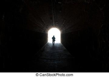 túnel, pretas
