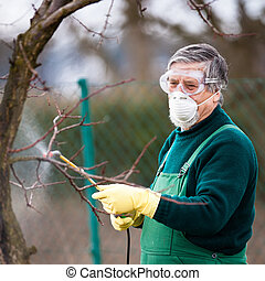 Using chemicals in the garden/orchard