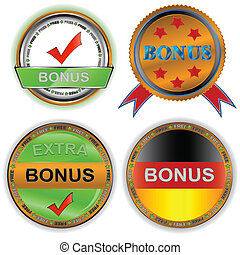 Download buttons  - Four multi-colored Download buttons