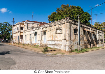 Colonial architecture typical of Diego Suarez (Antsiranana),...