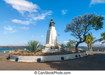 The statue of Marechal Joffre in Diego Suarez Anrsiranana,...