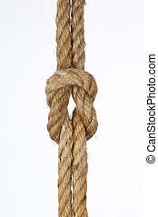 Rope knot - Node with string on white background