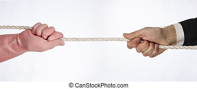 Tug of war - Hands that do tug of war
