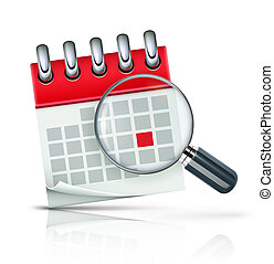 Calendar icon - illustration of search concept with calendar...