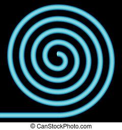 Blue spiral.