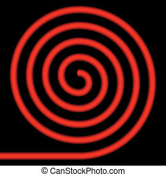 Red spiral. - Red spiral on a black background.