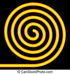 Yellow spiral.