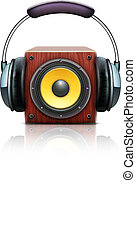 sound loud speakers - Vector illustration of cool sound loud...