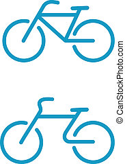 bicycle icons - Vector illustration of Simple bicycle icons