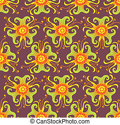 Seamless floral pattern - Psychedelic seamless pattern