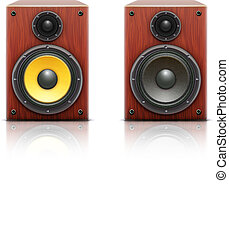 sound loud hi-fi audio system - Vector illustration of...