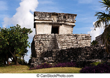 Well Preserved Mayan Building at Tulum - Well preserved...