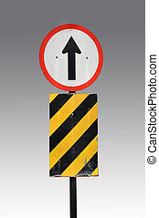 Direction traffic sign - Go straight direction traffic sign