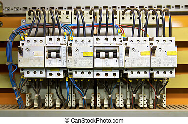 Control panel with circuit-breakers fuse