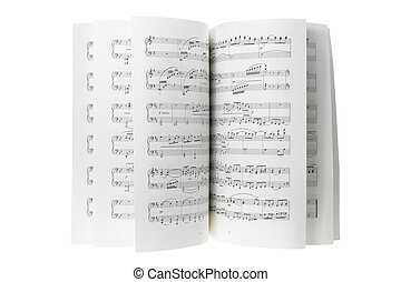 Music Score on White Background