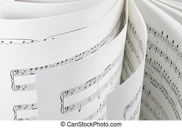 Music Score - Close Up of Music Score