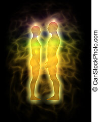 Couple - energy body - aura - Picture of human aura....