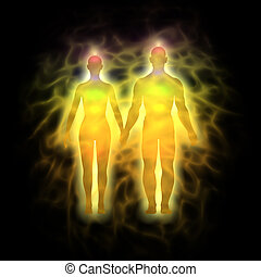 Human aura - energy body - couple - Picture of human aura....