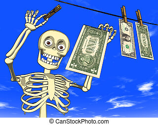 Cartoon - money laundering - Illustration - cartoon of human...