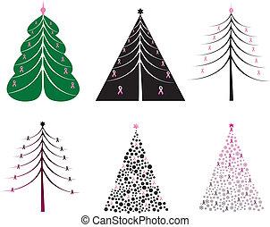 Pink ribbon Christmas