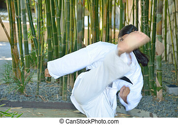Front kick in karate