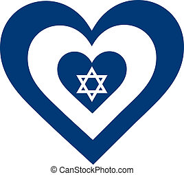 Israel Heart - A concentric, heart shaped design, with...
