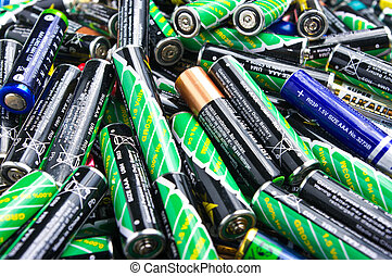 Battery stack  - Stack of different types of batteries