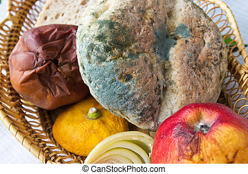 Old inedible food - Lot of old inedible food