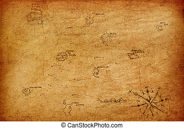 Antique map. - Antique map of the sea.