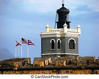 main building - Castillo San Felipe del Morro in an old San...