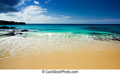 Stranded - Gorgeous beach on isolated island in the Atlantic
