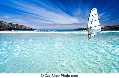 Windsurfer - Windsurfing in beautiful waters