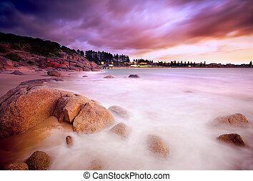 Surreal Sunrise - Beautiful Australian Beach Sunrise