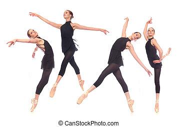 hembra, bailarina, estudio