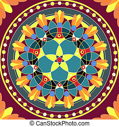 Mandala Round Ornament Pattern Floral Drawing