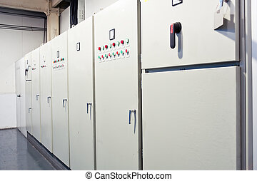 Pure water processing plant control room