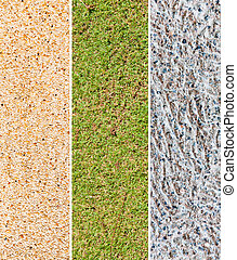 Grass and Stone Floor Material