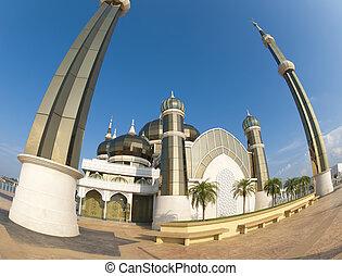 Mosque Malaysia - Crystal Mosque or Masjid Kristal in Kuala...
