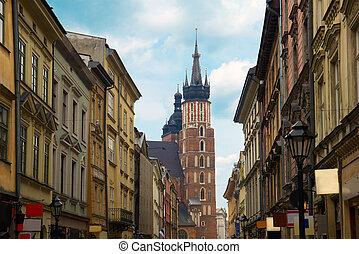 Florianska street, Krakow, Poland