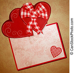 red heart wintage xtyle valentines day illustration for...